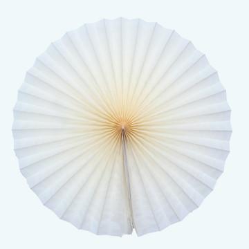 Leque de papel 40cm diametro aberto fiorata roseta creme