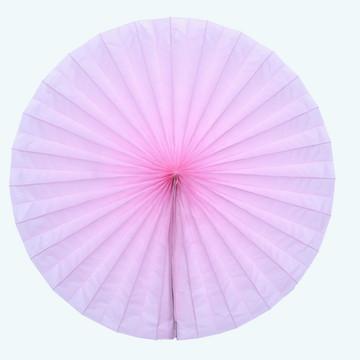 Leque d papel 40cm diametro aberto fiorata roseta Rosa Claro