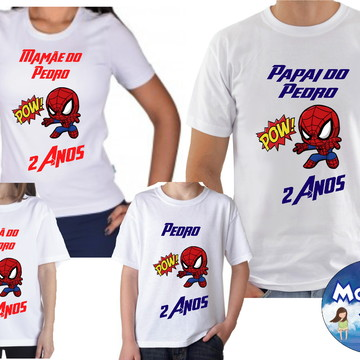 Camiseta Aniversario Homem Aranha Com 4