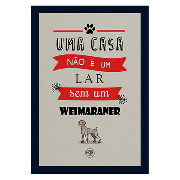 Quadro Cachorro Weimaraner 20x30 - Novo!