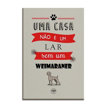 Placa Decorativa em MDF Cachorro Weimaraner 20x30