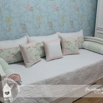 Kit cama auxiliar coleção gaiolinha e passarinhos