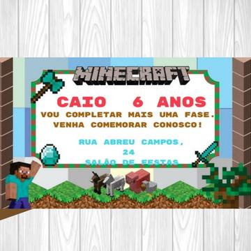 Convite Minicraft - Digital