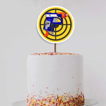 Topo de bolo/topper grande – Nerf