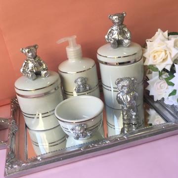 Kit Higiene Prata Pronta Entrega