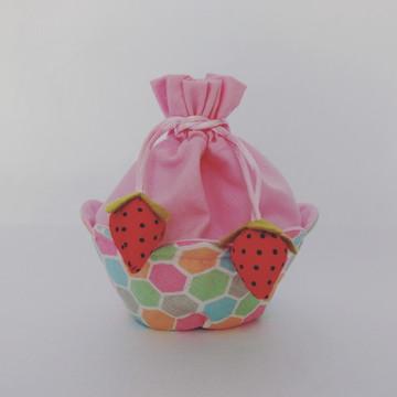 Necessaire Cupcake de Morangos