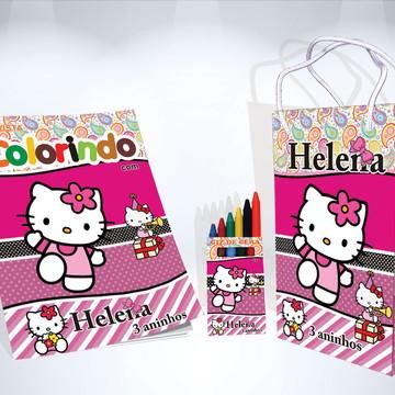 Kit de Colorir Hello Kit Revista Sacola Giz