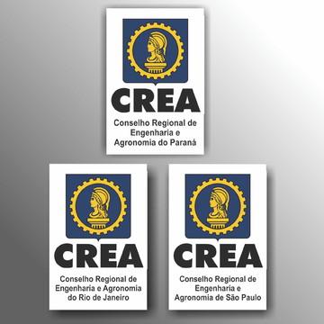 Adesivo Crea10x15cm Conselho Regional de Engenharia a094