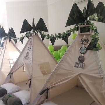 Cabana Festa do Pijama - Camuflado (locação)
