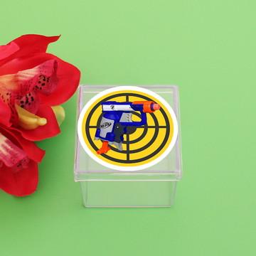 Caixinha de acrílico com adesivo – Nerf
