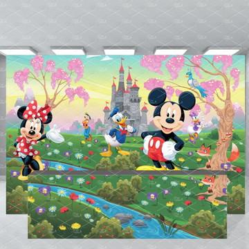 SUPER KIT Turma do Mickey Painel + Fechamento de Mesa