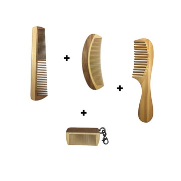 Kit Pentes para Homem Barba Bigode e Cabelo Completo Barato