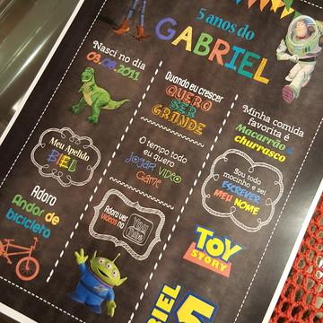 Chalkboard A3 Emoldurado Toy Story