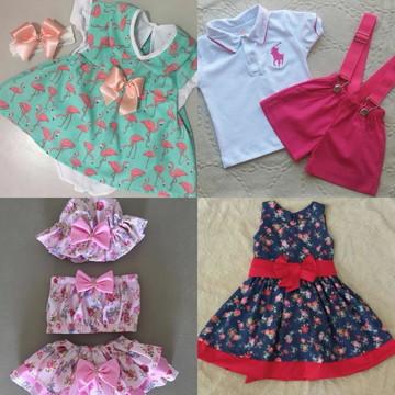 89d0473e87 Kit com 4 Conjuntos Infantil Feminino