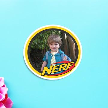 Aplique/adesivo/tag com foto - Nerf