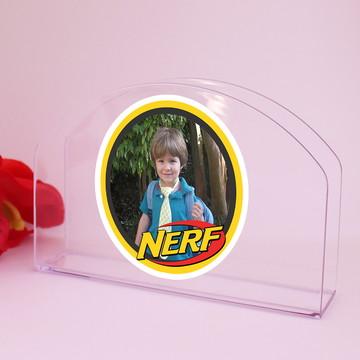 Porta-guardanapo de mesa com foto - Nerf