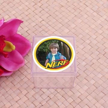 Caixinha de acrílico com foto - Nerf