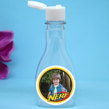 Frasco com tampa flip-top com foto - Nerf