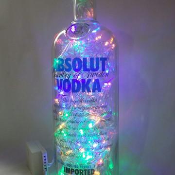 Luminaria garrafa de Vodka Absolut Led