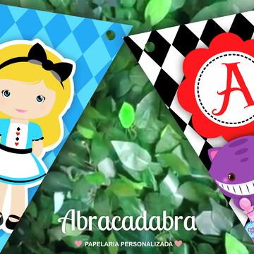 Bandeirola Digital Alice no País das Maravilhas