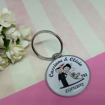 Chaveiro Personalizado de Casamento