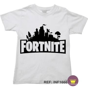 Camiseta Infantil Fortinite Multiplayer Pvp 01