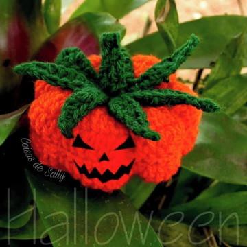 Abóbora Amigurumi Halloween Decoração Halloween
