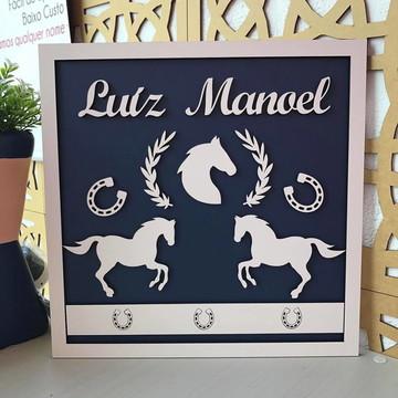 Quadro Porta Maternidade - Cavalos
