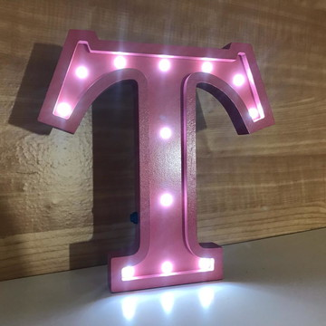 Letra 25 cm Luminosa 3D MDF LED