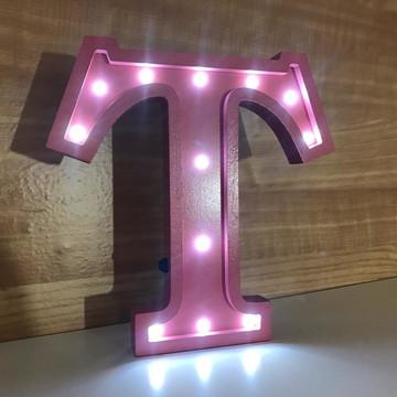 Letra 25 cm luz LED