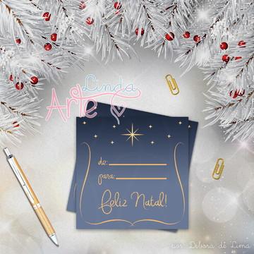 Tag Impressa Presente Natal - De Para