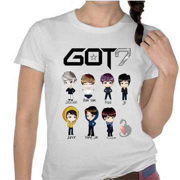 24b2214482 Camiseta Kpop Got7 Integrantes Personalizada Grupo Kpop