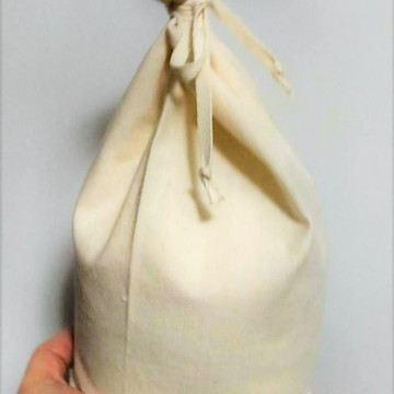 Saquinho Orgânico Gde p/ Compra Granel Farinhas Vegano Natal