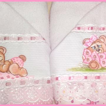 Toalha de capuz com toalha fralda - unidade