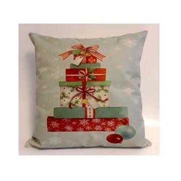 Capa de Almofada de Natal Árvore de Presentes
