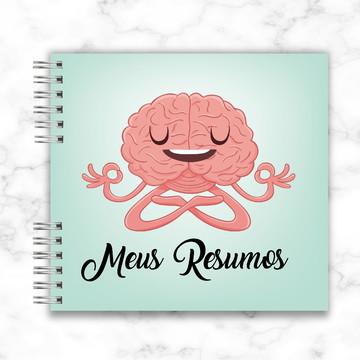 Caderno de resumos faculdade personalizado