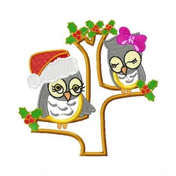 Coruja Natal 3 Matrizes PES - Matriz para Bordado