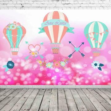 Painel de festa balão de ar quente