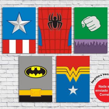 Poster Digital Herois Minimalista (Arquivos A3 pra download)