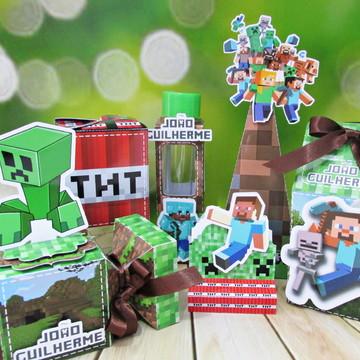 Kit festa personalizada Minecraft