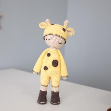 Menina Girafa Girafinha de Crochê (Amigurumi)