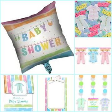 Kit decoração Chá de Bebê - Baby Clothes