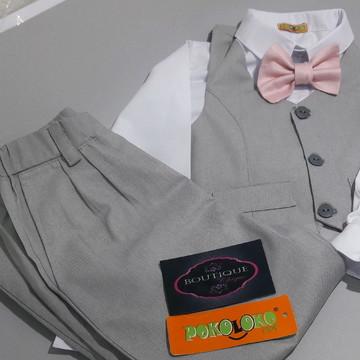 1Conjunto Pajem Camisa,Colete ,calça e gravata