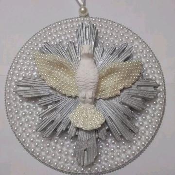 Mandala Divino Espírito Santo 20cm com pérolas