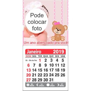 CALENDARIO COM ÍMÃ 2019 - ANO NOVO INFANTIL