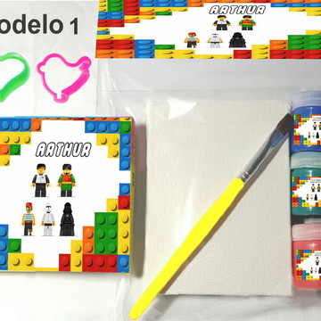 Kit massinha e pintura-Lego