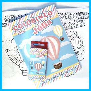 Kit de Colorir com giz de Cera Balões