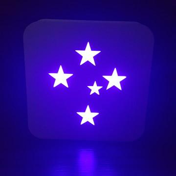 Luminária Abajur Lanterna do Cruzeiro Estrelas
