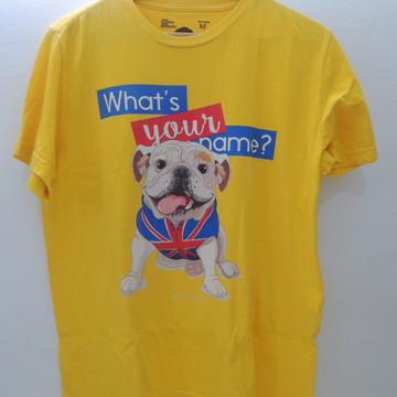Camiseta Bulldog Inglês – What´s Your Name