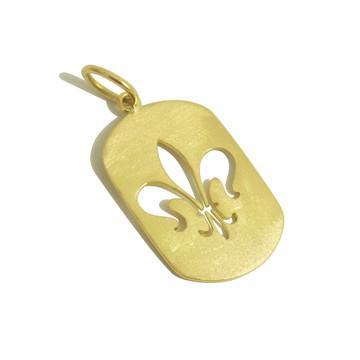 Pingente Flor de Lis | Ouro 18k